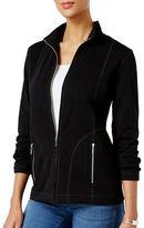 Karen Scott Mock Neck Lounge Jacket