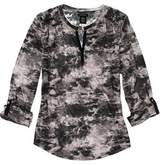 Calvin Klein Womens Long Sleeve Roll Tab V-Neck Tee XXL