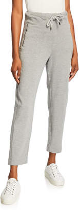 Max Mara Leisure Drawstring Front Jersey Ankle Pants w/ Pockets