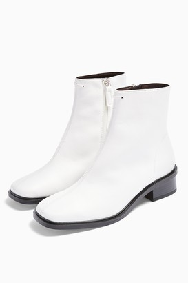 Topshop Womens Considered Valley Vegan White Flat Boots - White