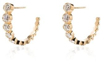 Sophie Bille Brahe 18kt Yellow Gold Half-Hoop Diamond Earrings
