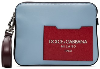 Dolce & Gabbana Colour-Blocked Leather Clutch