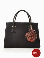 Very Large Tote With Pom Poms