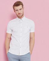Ted Baker Leaf print cotton shirt