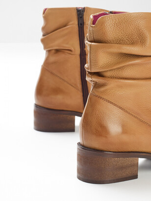 White Stuff Rebecca Ruched Ankle Boots