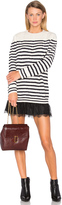 RED Valentino Striped Sweater Dress