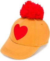 Mini Rodini heart pom-pom cap