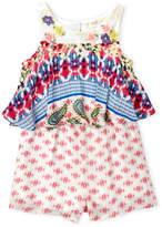 Baby Sara Toddler Girls) Flower Popover Romper