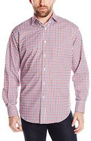 Thomas Dean Men's 2 Button SPRD Collar Check