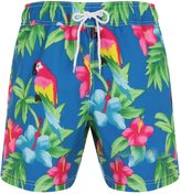 Bruno Galli, Mens Printed Swimming Shorts, Blue Parrot, M