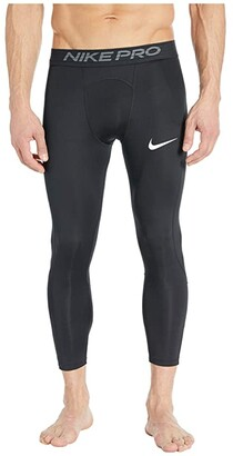 Nike Pro Tights 3/4 (Black/White) Men's Casual Pants