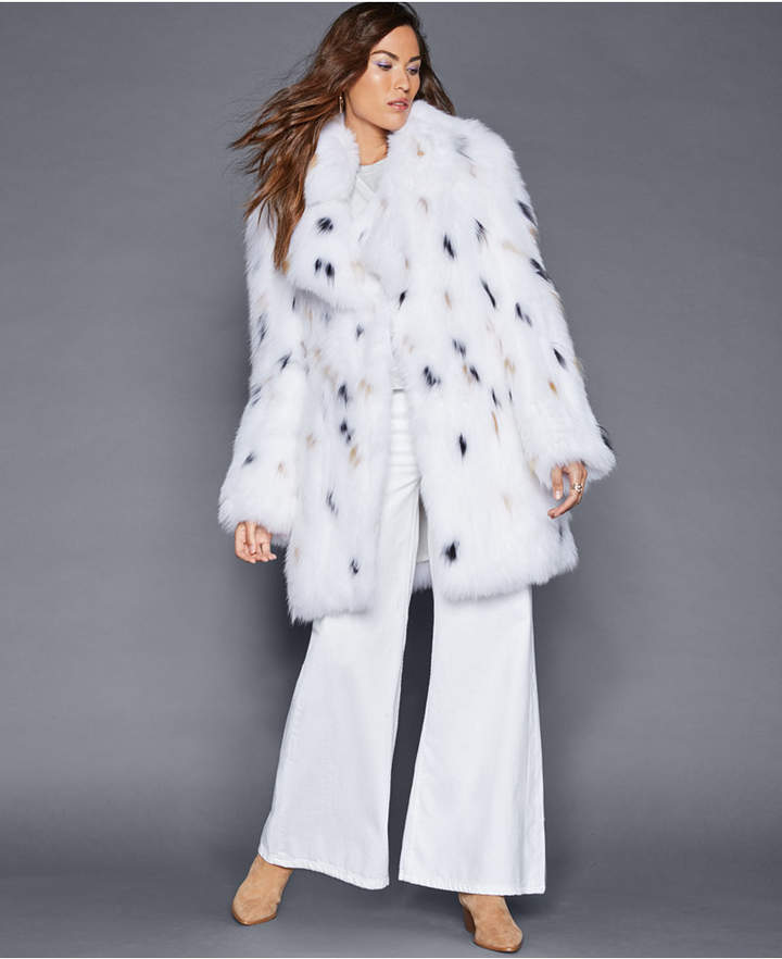 The Fur Vault Knitted Fox Fur Coat