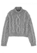 Filles a papa Ivy Silver Chunky-knit Jumper