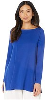 Eileen Fisher Bateau Neck Tunic (Royal) Women's Clothing