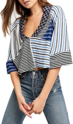 Free People The Stripe is Right Top
