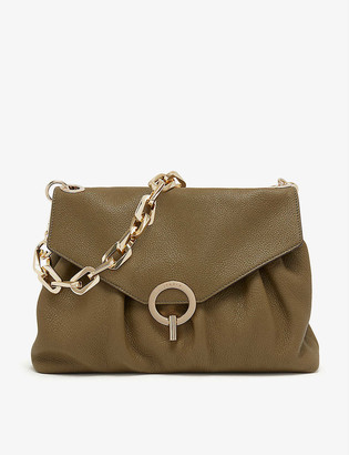 Sandro Yza chain-strap grained-leather shoulder bag