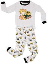 "Elowel Pajamas Elowel Little Boys""Bulldozer"" 2 Piece Pajama Set 100% Cotton (6-12 Months, )"
