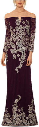 Xscape Evenings Lace-Embroidered Gown