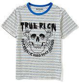 True Religion Big Boys 8-20 Short-Sleeve Hardcore Striped Graphic Tee