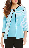 Ming Wang 3/4 Sleeve Patterned Jacket