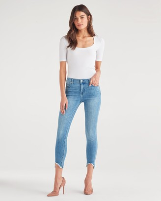 7 For All Mankind The Ankle Skinny with Wave Hem in Constellation