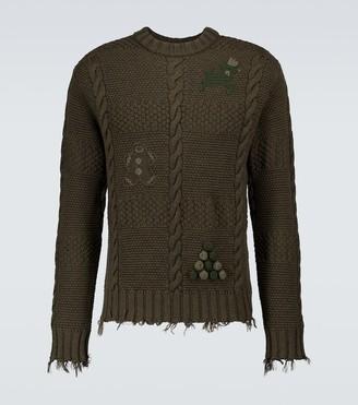 Alanui Stitch-Mas wool sweater