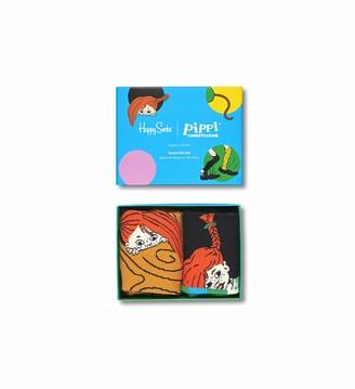 Happy Socks Pippi Longstocking 2-Pack Gift Set 36-40