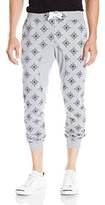 Southpole Men's Jogger Pants In French Terry All Over Small Even Small Star