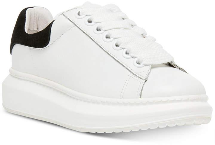 b928585b719 Women Glazed Lace-Up Chunky Sneakers