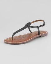 Sam Edelman Gigi Leather Thong Sandal, Black