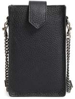 Botkier Leather Phone Crossbody Case - Black