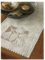 Heritage Lace Woodland 14-Inch by 45-Inch Runner, Ecru