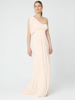 Maids To Measure Maids to Measure Georgina Asymmetric Bow Dress, Cream Soda