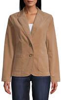 ST. JOHN'S BAY St. John`S Bay Womens Classic Fit Corduroy Blazer