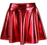 Simplicity Women's Metallic Ballet Dance Fla Skater Skirt Fancy Dress