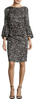 Tracy Reese Bell Sleeved Sheath Dress