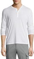 ATM Anthony Thomas Melillo Classic Long-Sleeve Henley Shirt