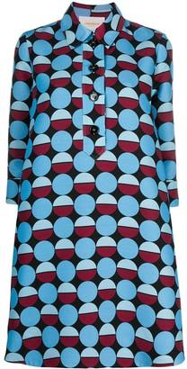 La DoubleJ Artemis printed mini shirt dress