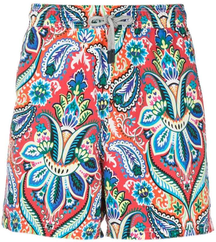 Etro mixed paisley swimming shorts