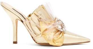 Midnight 00 Ruched Lame & Pvc Stiletto-heel Mules - Gold