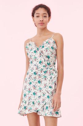 Rebecca Taylor Carnation Fleur Wrap Dress