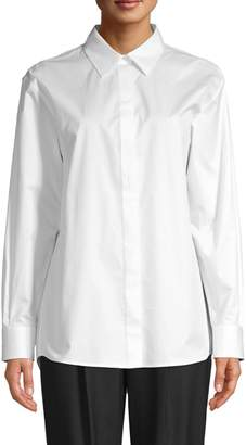 HUGO BOSS Beeka Crisp Stretch-Cotton Blouse