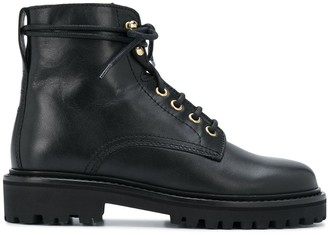 Isabel Marant Lace-Up Leather Boots