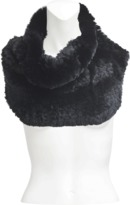 Yves Salomon Tube collar in knitted rabbit