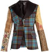 Junya Watanabe Tartan-checked contrast-sleeve wool-blend jacket
