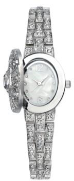 Charter Club Women's Silver-Tone Crystal Bracelet Watch 23mm, Created for Macys'