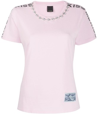 Pinko graphic-print embellished T-shirt