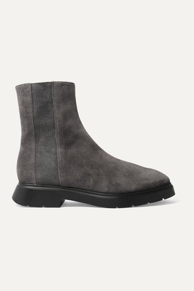 Stuart Weitzman Romy Chill Shearling-lined Suede Ankle Boots - Anthracite