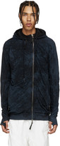 11 By Boris Bidjan Saberi Blue Marbled Hoodie