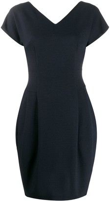 Talbot Runhof V-neck midi dress